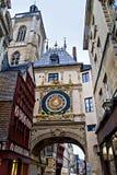 Horloge de Gros, Rouen, França Fotos de Stock