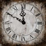 Horloge de Grunged Photographie stock libre de droits