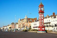 Horloge de jubilé sur l'esplanade, Weymouth Photos stock