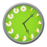 Horloge de marguerite Images libres de droits