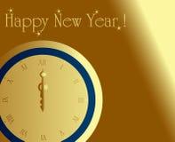 Horloge de minuit Image libre de droits