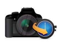 Horloge de montre de synchronisation d'appareil-photo Photo libre de droits