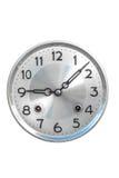Horloge de mur antique d'isolement sur le blanc image libre de droits