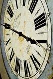horloge de mur bleue photo stock