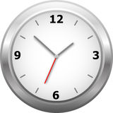 Horloge de mur classique Images libres de droits