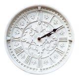 Horloge de mur d'isolement Photographie stock