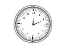 Horloge de mur d'isolement du chrome 3d Image stock
