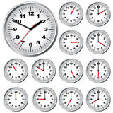 Horloge de mur. Illustration de vecteur. Images stock