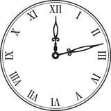 Horloge de mur noire. illustration de vecteur Photo libre de droits