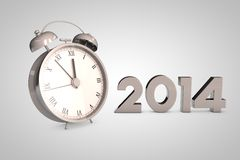 Horloge 2014 de Noël illustration stock
