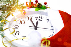 Horloge de nouvelle année Images libres de droits
