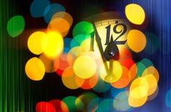 Horloge de nouvelle année avec le texte 2016 Photographie stock libre de droits