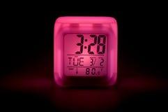 Horloge de nuit Photographie stock