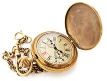 Horloge de poche de cru Images libres de droits