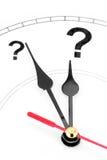 Horloge de point d'interrogation Photos stock