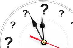 Horloge de point d'interrogation Photographie stock libre de droits