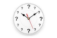 Horloge de point d'interrogation Photos libres de droits