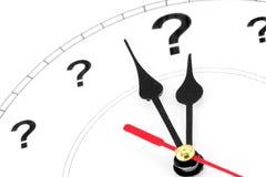 Horloge de point d'interrogation Images stock
