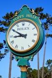 Horloge de Poppy Hills Golf Course Photos stock