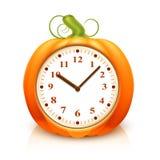 Horloge de potiron Images stock