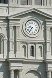 Horloge de quartier français Photo stock