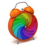 Horloge de roue de couleur Photographie stock libre de droits