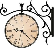 Horloge de rue de vintage. EPS10 Image libre de droits
