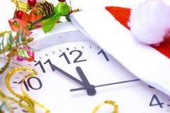 Horloge de Santa Claus  Photo stock