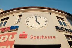 Horloge de Sparkasse Image libre de droits