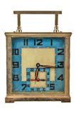 Horloge de table d'art déco de vintage d'isolement sur le blanc Photographie stock libre de droits