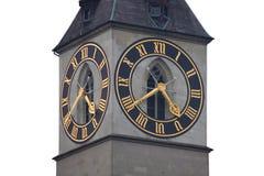 Horloge de tour de rue Peter Photographie stock libre de droits