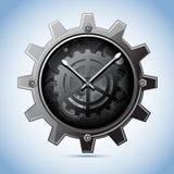 Horloge de trains Photographie stock libre de droits
