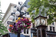 Horloge de vapeur dans Gastown Vancouver Photographie stock libre de droits