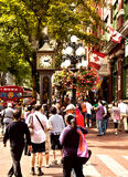Horloge de vapeur, Vancouver, BC, le Canada Photos libres de droits