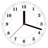 Horloge de vecteur Image libre de droits