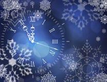 Horloge de vecteur de Noël illustration de vecteur