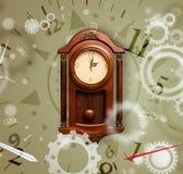 Horloge de vintage avec des nombres du côté Photo stock