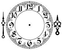 Horloge de vintage de vecteur Images libres de droits