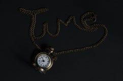 Horloge de vintage le temps Photo stock