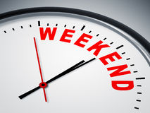 Horloge de week-end Images stock
