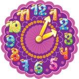 Horloge drôle pour des gosses Images libres de droits