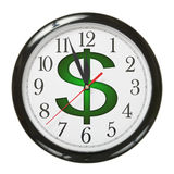 Horloge du dollar Photo stock