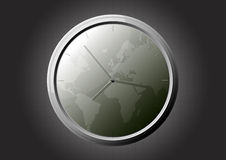 Horloge du monde Photo stock