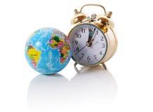 Horloge du monde image stock