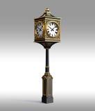 Horloge en bronze classique avec le workpath Photos libres de droits
