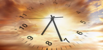 Horloge en ciel Images stock
