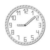 Horloge en métal Photographie stock libre de droits