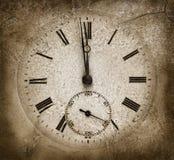 Horloge en pierre Image libre de droits