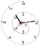 Horloge en spirale Photo stock