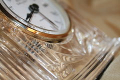 Horloge en verre Photos stock